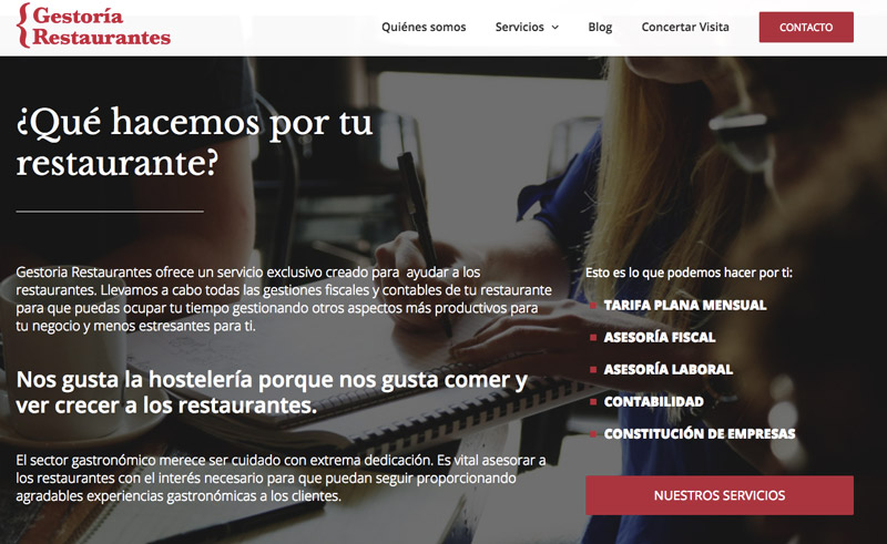 gestoria restaurantes marketing