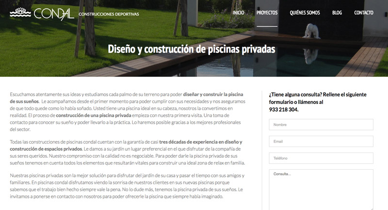 piscinas condal marketing